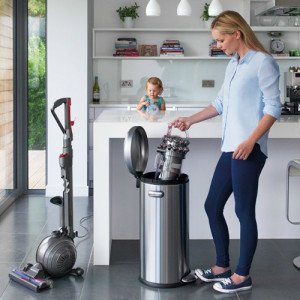 Dyson Cinetic Big Ball Animal Plus Allergy vacuum features easy empty dust cup