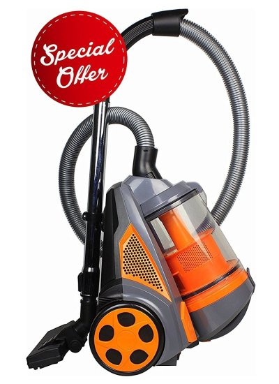 Ovente ST2620O Bagless Canister Cyclonic Dorm Vacuum