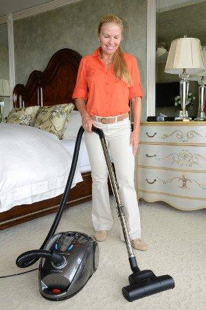 Zenith Technologies, LLC Soniclean Bare Floor Pro Canister Vacuum Cleaner works well on short pile carpet
