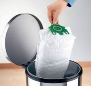 disposing of a bag from a bagged vacuum is more sanitary than a bagless