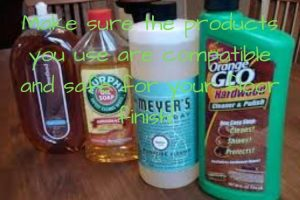 use products that are safe for your wood floor finish
