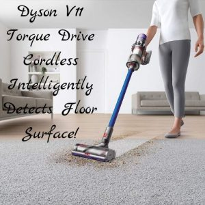 Dyson V11 Torque Drive detects floor type automatically