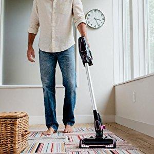 the Shark ION Rocket Ultra Light Vacuum IR101 works well on hard floors and carpet