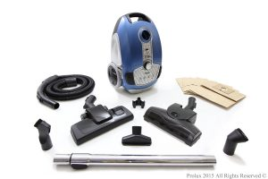 Prolux Tritan Bagged Canister Vacuum comes with large array of accessories