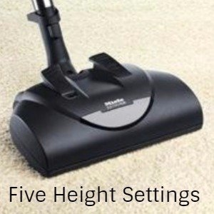 5 height adjustment setting on the SEB 228 Electro Plus Power Head for all floor types