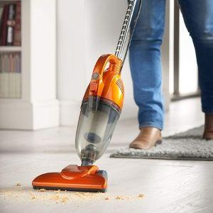 VonHaus 2 in 1 Stick & Handheld Vacuum Cleaner cleans hard floors and area rugs
