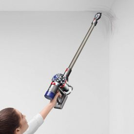 dyson v8 animal cordless vacuum easily cleans overhead areas