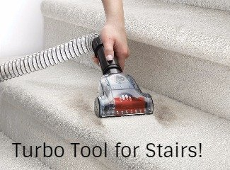 the Hoover UH71250 WindTunnel 2 includes a Pet Turbo Tool for stairs or upholstery