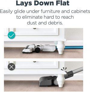 Eureka NEC180 RapidClean Pro Cordless Vacuum Cleaner lays down flat