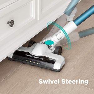 Eureka NEC180 RapidClean Pro Cordless Vacuum Cleaner features swivel steering for user friendly operation
