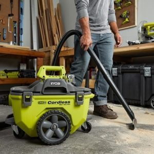Ryobi 18 Volt ONE plus 6 Gallon Cordless Wet Dry shop Vacuum can clean floors or above areas