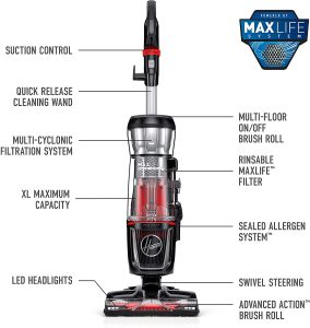 The hoover maxlife pro pet swivel uh74220pc is a feature rich bagless upright Vacuum Cleaner