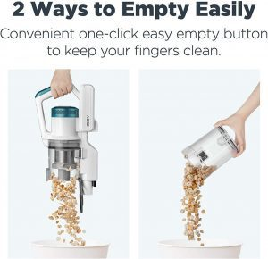 Eureka NEC180 RapidClean Pro Cordless Vacuum Cleaner with one click easy empty dirt cup