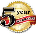 Shark vacuums come with a 5 Year Warranty