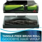 the BISSELL 1650A Pet Hair Eraser Vacuum features a tangle free brush roll