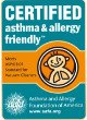 certified asthma and allergy friendly by the American allergy foundation