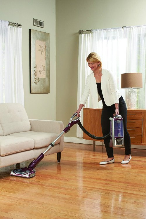 Shark Rotator TruePet Bagless Vacuum NV752 with Genie Hard Floor Attachment for Bare floor Cleaning
