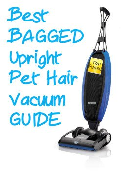 Illustration of BAGGED Upright Vacuum that can be used for cleaning pet hair