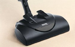 the Miele S8390 Kona has a motorized brush roll with on off disengage pedal