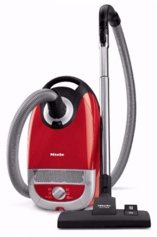 The Miele Complete C2 Hard Floor Canister Vacuum Cleaner is designed to clean hardwood floors as well as short pile carpet and area rugs
