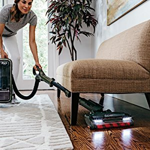 Shark DuoClean APEX Upright Vacuum AX951 easily cleans under furniture