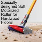 motor powered soft roller for hardwood floors