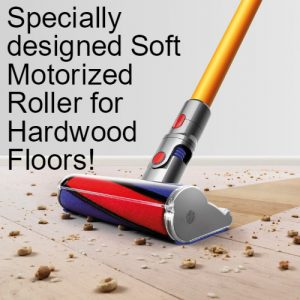 Dyson V8 Absolute incorporates specially designed soft motorized roller for hardwood floors