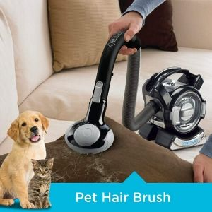 BLACK & DECKER BDH2020FLFH MAX Lithium Flex Cordless Hand Vacuum works well for removing pet hair from furniture