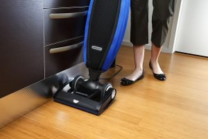 The Oreck LW100 Magnesium SP Bagged Upright Vacuum performs exceptionally well on hardwood and smooth floors