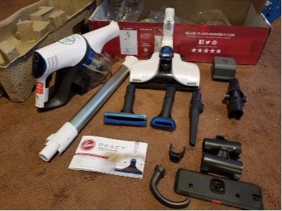 The injection molded parts of the Hoover REACT Whole Home Cordless Advantage Vacuum BH53210 are well made and fit together flawlessly
