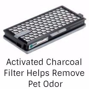 an activated charcoal filter helps control pet odor
