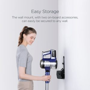 charge the Eureka NEC122A Powerplush while on the included wall mount or seperate