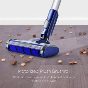 the Eureka NEC122A features a motorized Plush brushroll specially designed for cleaning hardwood floors