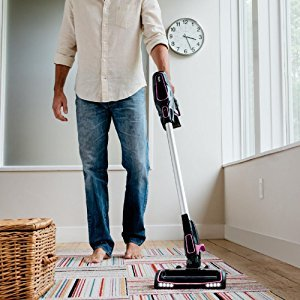 the Shark ION Rocket Ultra Light Vacuum IR101 works well on hard floors and carpet