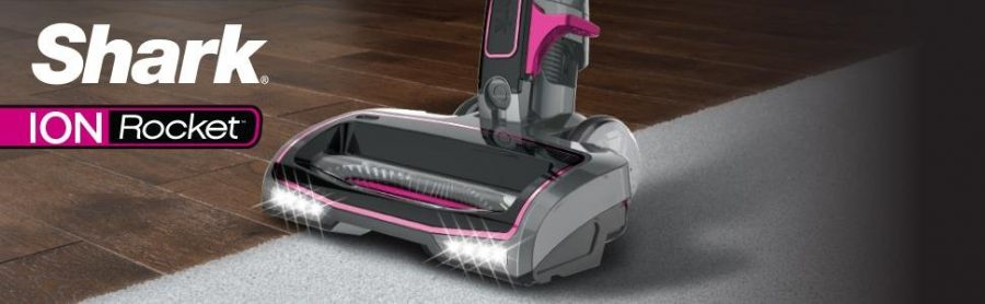 Shark ION Rocket Ultra Light Vacuum IR101 is equipped with dual led headlamps to show you where the dirt is on your floor