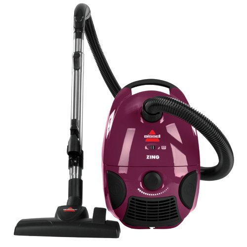 the Bissell Zing Lightweight, Bagged Canister Vacuum Purple 2154A has many features and offers excellent value for a dorm vacuum cleaner