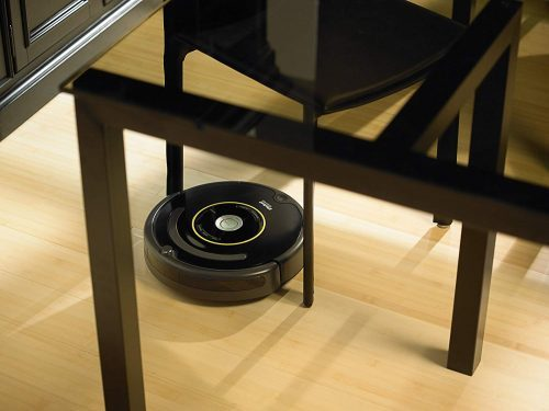 iRobot Roomba 650 Robot Pet Vacuum is low enough to clean under most furniture