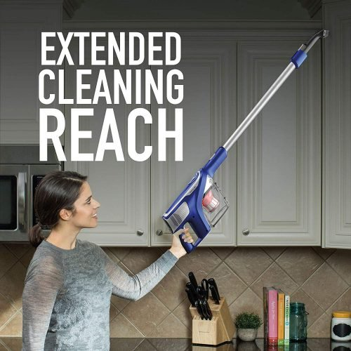 Hoover Impulse Cordless Stick Vacuum Cleaner BH53020 is light weight for easy overhead cleaning