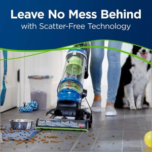BISSELL Cleanview Rewind Pet Bagless 2489 features Scatter-Free technology
