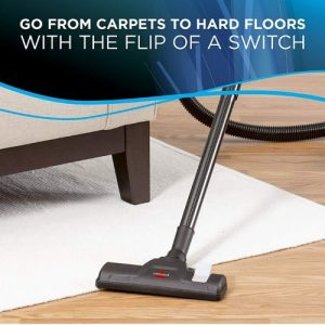 Bissell Zing Canister 2156A Vacuum Green Bagless features multi floor brush for rugs and hard floors