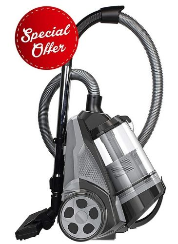 Ovente ST2620B Bagless Canister Cyclonic Vacuum priced below one hundred dollars