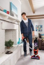 Dirt Devil Razor Pet Bagless Upright Vacuum UD70355B with removable handle and stretch hose for above floor cleaning