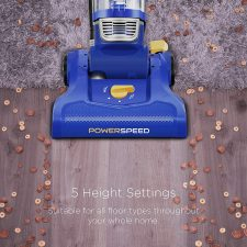 Eureka NEU182A PowerSpeed Lightweight Bagless Upright Vacuum with 5 height settings