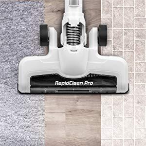 Eureka NEC180 RapidClean Pro was performance tested on medium carpet and hardwood floors